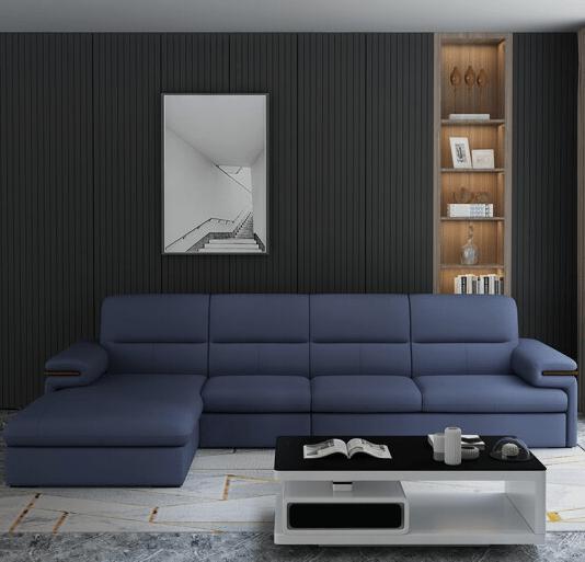 A家家具 真皮沙发现代轻奢皮沙发组合