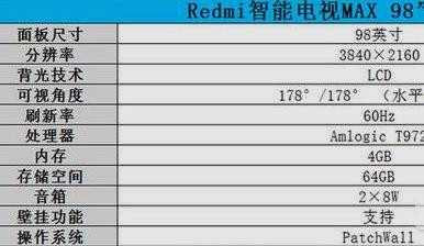 redmi红米智能电视Max98怎么样